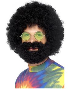 Peluca afro de tío guay y barba