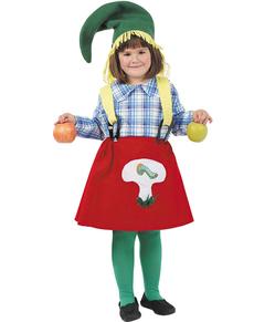 Disfraz de Gnomo granjera niña