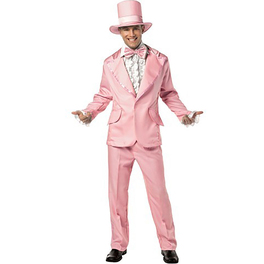 Disfraz de esmoquin rosa años 70 para hombre