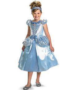 Disfraz de Cenicienta brillante deluxe para niña