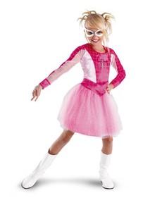 Disfraz de Spider Girl rosa para niña