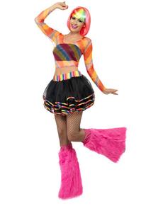 Disfraz de marchosa arco iris