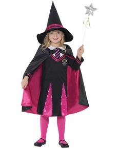 Disfraz de bruja colegial para niña