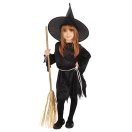 Disfraz de bruja malvada tradicional para niña