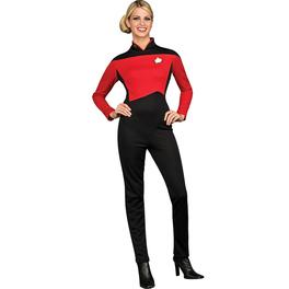 Disfraz de Comandante Rojo Star Trek La Nueva Generación para mujer