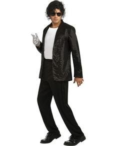 Chaqueta de Michael Jackson Billie Jean deluxe con lentejuelas para adulto