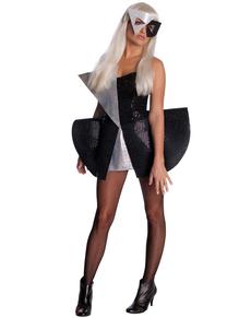 Disfraz de lentejuelas negro Lady Gaga para mujer