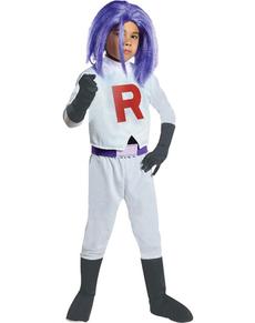 Disfraz de James Team Rocket para niño