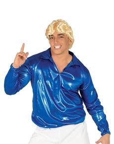 Camisa Disco Azul para hombre