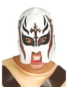 Máscara de lucha libre blanca