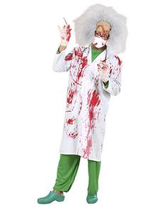 Disfraz de doctor asesino ensangrentado para hombre