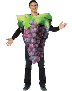 Disfraz de racimo de uvas moradas