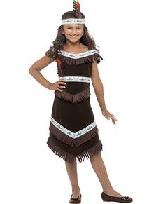 Disfraz de india apache para niña