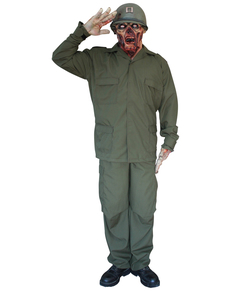 Disfraz de Soldado Zombie Deluxe