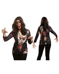 Camiseta de zombie girl para mujer