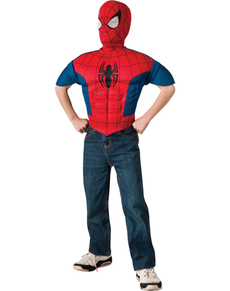 Kit disfraz Spiderman musculoso para niño