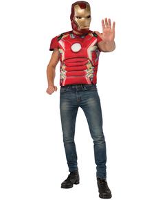 Kit disfraz Iron Man musculoso Vengadores: La Era de Ultrón para adulto