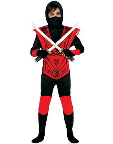 Disfraz de ninja rojo mortal para niño
