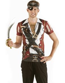 Camiseta Pirata de los siete mares para hombre