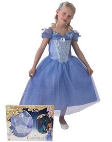 Disfraz de Cenicienta movie para niña con zapatos