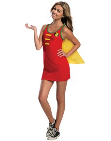 Vestido disfraz de Robin DC Comics para adolescente