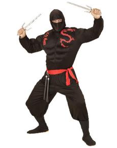 Disfraz de ninja musculoso para hombre talla grande