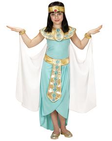 Disfraz de reina egipcia azul para niña