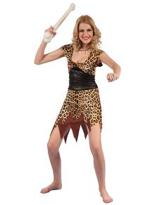Disfraz de troglodita de las cavernas para mujer