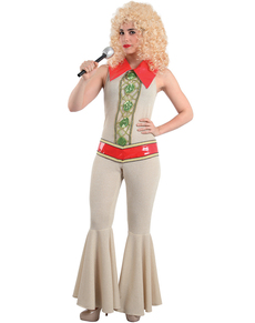 Disfraz de cantante ABBA para mujer