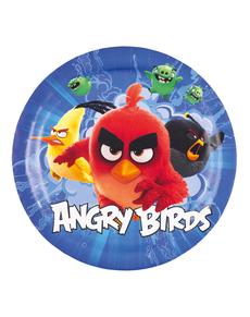Set de 8 platos Angry Birds 23 cm