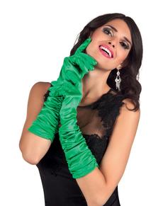 Guantes de estrella de Hollywood verdes para mujer