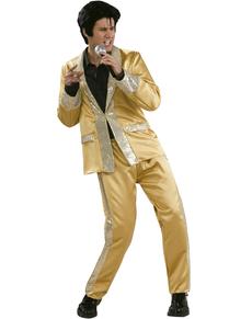 Disfraz de Elvis dorado deluxe para hombre