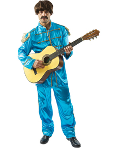 Disfraz de músico de Liverpool azul para hombre